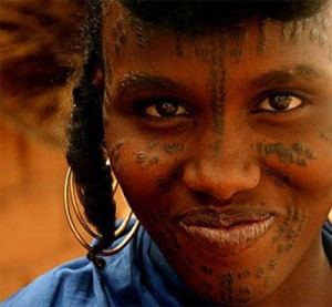African Tribal Face Tattoos