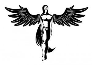 Angel Tribal Tattoo