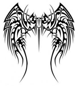 Angel Wing Tribal Tattoos
