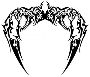 Angel Wings Tribal Tattoo