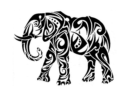 16 cool tribal animal tattoos only tribal. Black Bedroom Furniture Sets. Home Design Ideas