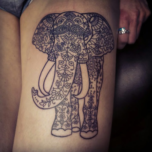 16 Beautiful Tribal Elephant Tattoo