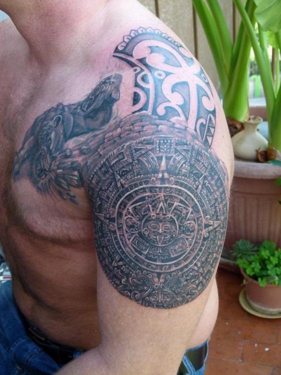 27 beautiful tribal shoulder tattoos only tribal. Black Bedroom Furniture Sets. Home Design Ideas