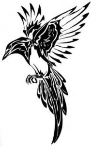 Bird Tribal Tattoo