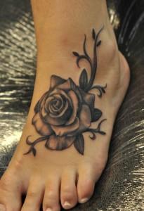 Black Foot Tribal Tattoos
