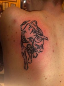 Bull Tattoo Tribal