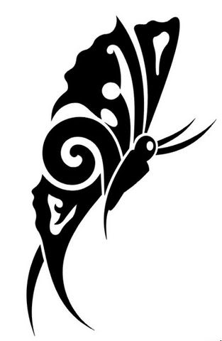 25 awesome tribal butterfly tattoo only tribal. Black Bedroom Furniture Sets. Home Design Ideas