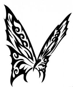 Butterfly Tribal Tattoo