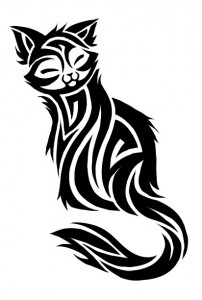 Cat Tribal Tattoo