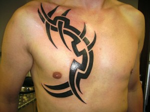 Chest Tribal Tattoo