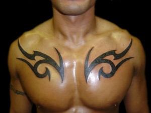 Chest Tribal Tattoos