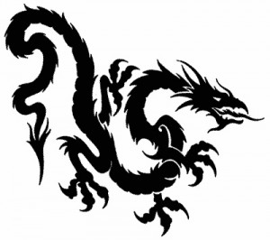 Chinese Tribal Dragon Tattoo Designs