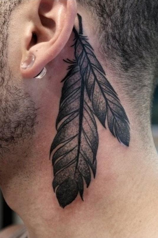 13 beautiful tribal feather tattoos