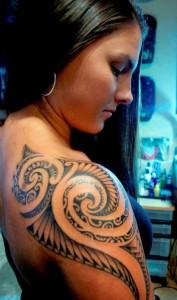 Feminine Arm Tribal Tattoos