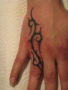 Finger Tribal Tattoos