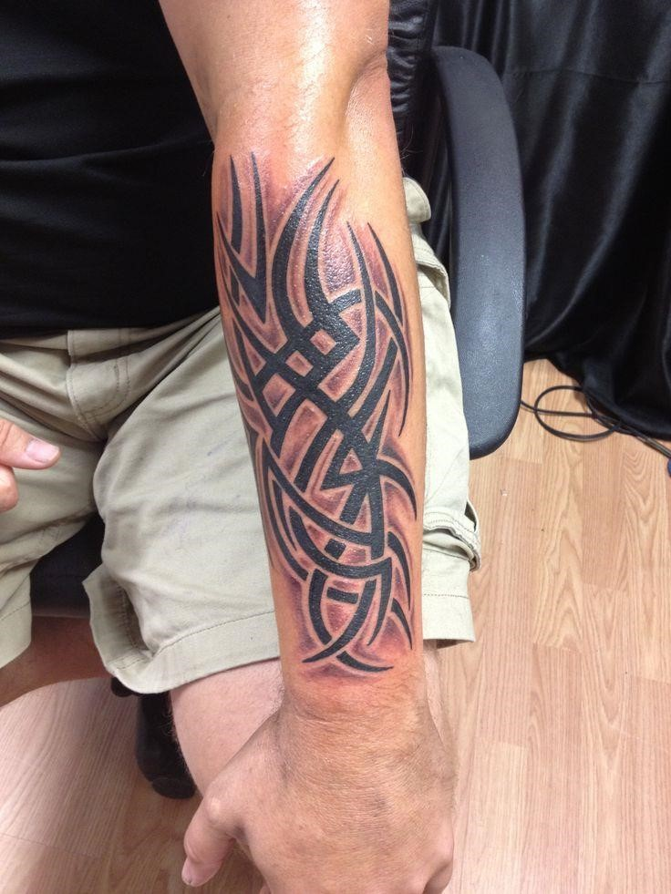 22 interesting tribal forearm tattoos only tribal for Forearm tattoo sleeves