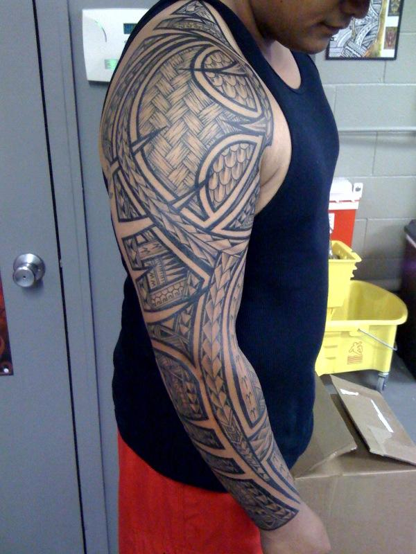 14 Beautiful Full Sleeve Tribal Tattoos | Only Tribal