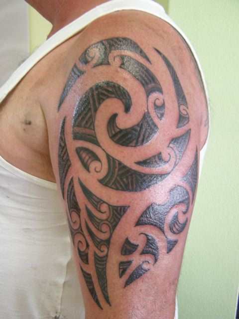 Stunning tribal half sleeve tattoos only