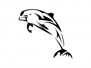 Hawaiian Tribal Dolphin Tattoo