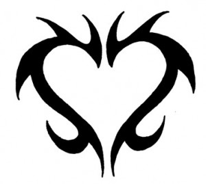 Heart Tribal Tattoo Designs