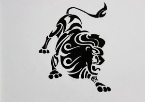Leo Tribal Tattoo Designs