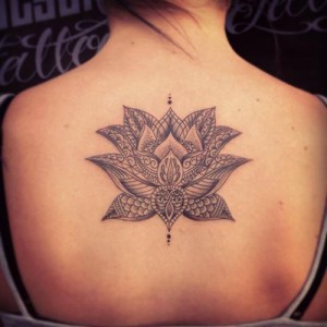 Lotus Flower Tribal Tattoo