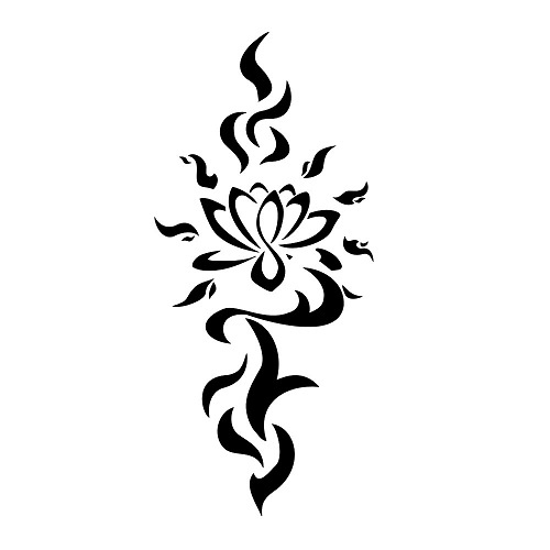 11 beautiful tribal lotus flower tattoos only tribal lotus flower tribal tattoo designs mightylinksfo Gallery