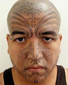 Maori Tribal Face Tattoo