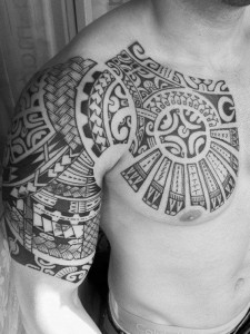 Maori Tribal Tattoo Chest