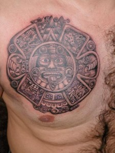 Mayan Tribal Chest Tattoos