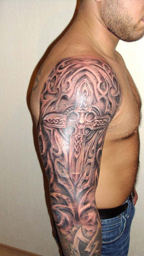 12 magnificent mayan tribal tattoos only tribal for Tribal warrior tattoos