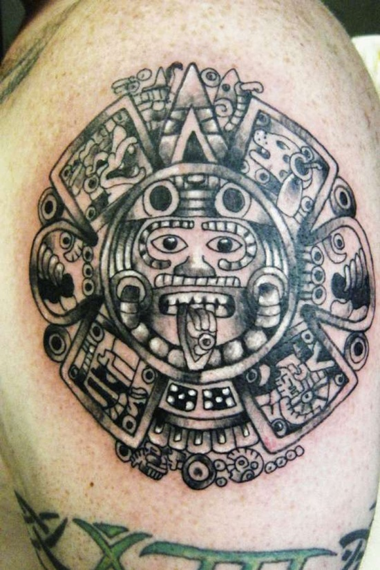 12 awesome mexican tribal tattoos only tribal. Black Bedroom Furniture Sets. Home Design Ideas