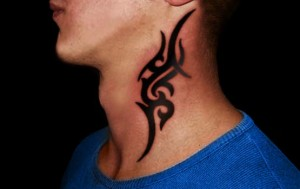 Neck Tribal Tattoos