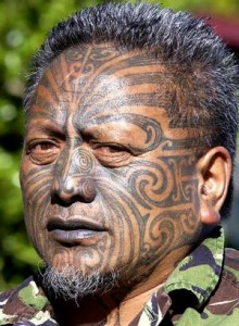 New Zealand Tribal Face Tattoos