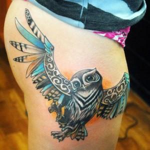 Owl Tattoo Tribal
