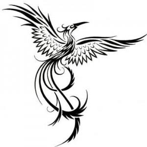 Phoenix Tribal Tattoo Designs