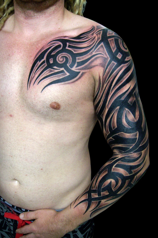 14 beautiful full sleeve tribal tattoos only tribal