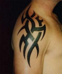 Shoulder Tribal Tattoos for Guys