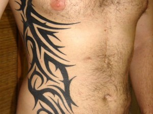 Side Tattoos for Men Tribal