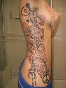Side Tribal Tattoos for Girls