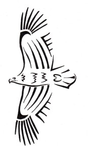 Simple Tribal Eagle Tattoo