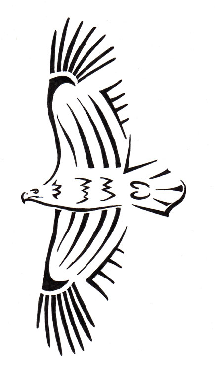 16 awesome tribal eagle tattoo only tribal for Simple tribal tattoo