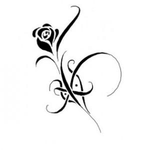 Simple Tribal Rose Tattoo