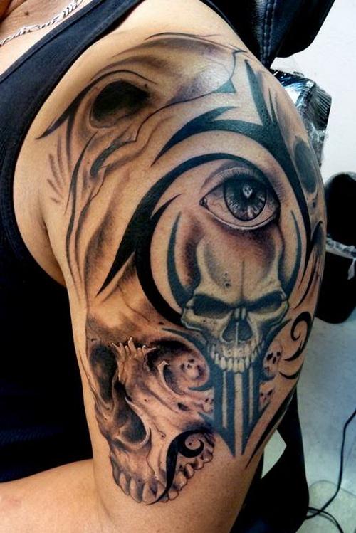 Tattoo Images Tribal: 25 Cool Tribal Skull Tattoos