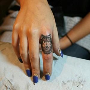 Small Tribal Wolf Tattoos