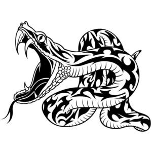Snake Tribal Tattoo for Men