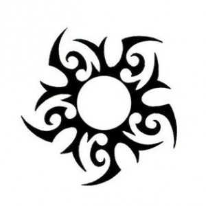 Sun Tribal Tattoo