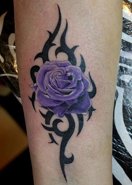 26 Beautiful Tribal Rose Tattoos