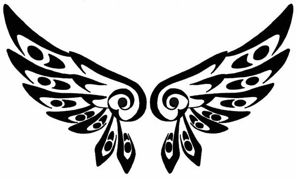 18 beautiful tribal wings tattoos only tribal. Black Bedroom Furniture Sets. Home Design Ideas