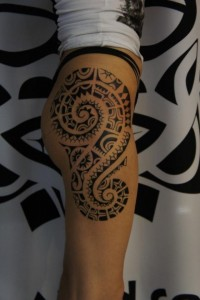 Thigh Tribal Tattoos